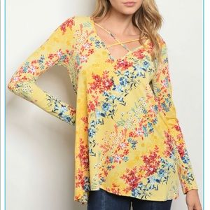 Tops - ☀️☀️Sunshine Yellow Floral Top